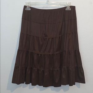 3/$25 Mad Edition brown high waisted tiered skirt
